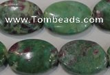 CRZ617 15.5 inches 18*25mm oval New ruby zoisite gemstone beads
