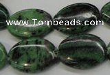 CRZ62 15.5 inches 18*25mm oval ruby zoisite gemstone beads