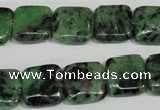 CRZ65 15.5 inches 14*14mm square ruby zoisite gemstone beads