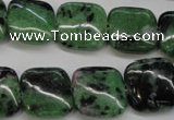 CRZ66 15.5 inches 16*16mm square ruby zoisite gemstone beads