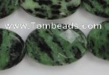 CRZ714 15 inches 20*30mm faceted oval ruby zoisite gemstone beads