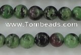 CRZ721 15.5 inches 6mm round ruby zoisite gemstone beads