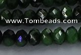 CRZ754 15.5 inches 5*8mm faceted rondelle ruby zoisite beads