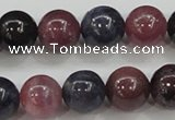 CRZ802 15.5 inches 10mm round natural ruby sapphire beads