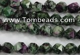 CRZ901 15.5 inches 6mm faceted nuggets Chinese ruby zoisite beads