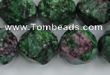 CRZ907 15.5 inches 18mm faceted nuggets Chinese ruby zoisite beads