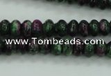 CRZ921 15.5 inches 6*10mm rondelle Chinese ruby zoisite beads