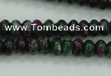 CRZ922 15.5 inches 8*12mm rondelle Chinese ruby zoisite beads