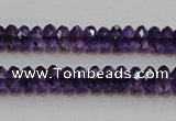 CSA19 15.5 inches 5*8mm faceted rondelle synthetic amethyst beads