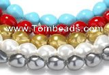 CSB05 16 inches 16*20mm nugget shell pearl beads Wholesale