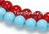 CSB06 16 inches 8mm round shell pearl beads Wholesale