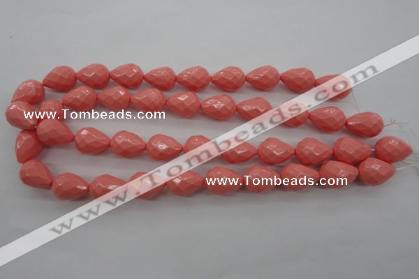 CSB1167 15.5 inches 15*20mm faceted teardrop shell pearl beads