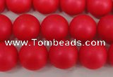CSB1305 15.5 inches 4mm matte round shell pearl beads wholesale
