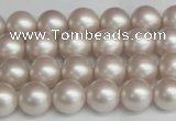 CSB1356 15.5 inches 6mm matte round shell pearl beads wholesale