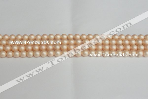 CSB1361 15.5 inches 6mm matte round shell pearl beads wholesale