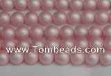 CSB1370 15.5 inches 4mm matte round shell pearl beads wholesale