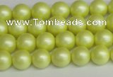 CSB1385 15.5 inches 4mm matte round shell pearl beads wholesale