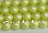 CSB1386 15.5 inches 6mm matte round shell pearl beads wholesale