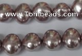 CSB140 15.5 inches 12*15mm � 13*16mm oval shell pearl beads