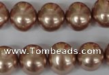 CSB141 15.5 inches 12*15mm � 13*16mm oval shell pearl beads