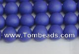 CSB1411 15.5 inches 6mm matte round shell pearl beads wholesale