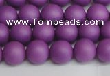 CSB1416 15.5 inches 6mm matte round shell pearl beads wholesale
