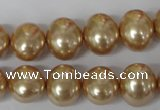 CSB142 15.5 inches 12*15mm � 13*16mm oval shell pearl beads