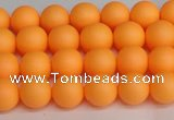 CSB1420 15.5 inches 4mm matte round shell pearl beads wholesale