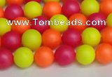 CSB1426 15.5 inches 6mm matte round shell pearl beads wholesale