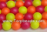 CSB1427 15.5 inches 8mm matte round shell pearl beads wholesale
