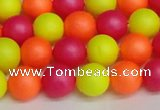 CSB1428 15.5 inches 10mm matte round shell pearl beads wholesale