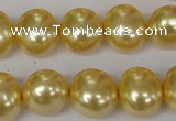 CSB143 15.5 inches 12*15mm – 13*16mm oval shell pearl beads