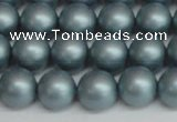 CSB1437 15.5 inches 8mm matte round shell pearl beads wholesale
