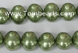 CSB145 15.5 inches 12*15mm � 13*16mm oval shell pearl beads