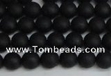 CSB1456 15.5 inches 6mm matte round shell pearl beads wholesale