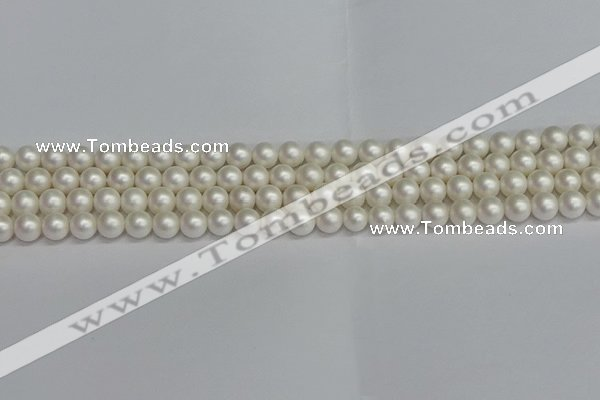 CSB1600 15.5 inches 4mm round matte shell pearl beads wholesale
