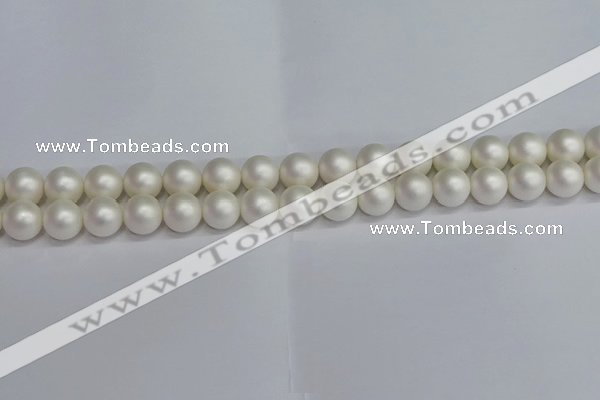 CSB1602 15.5 inches 8mm round matte shell pearl beads wholesale