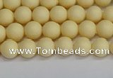 CSB1610 15.5 inches 4mm round matte shell pearl beads wholesale