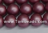 CSB1643 15.5 inches 10mm round matte shell pearl beads wholesale