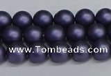 CSB1651 15.5 inches 6mm round matte shell pearl beads wholesale