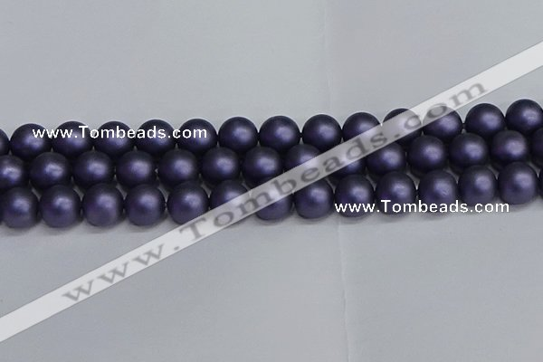 CSB1655 15.5 inches 14mm round matte shell pearl beads wholesale
