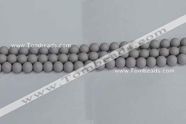 CSB1680 15.5 inches 4mm round matte shell pearl beads wholesale