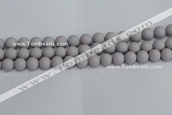 CSB1683 15.5 inches 10mm round matte shell pearl beads wholesale