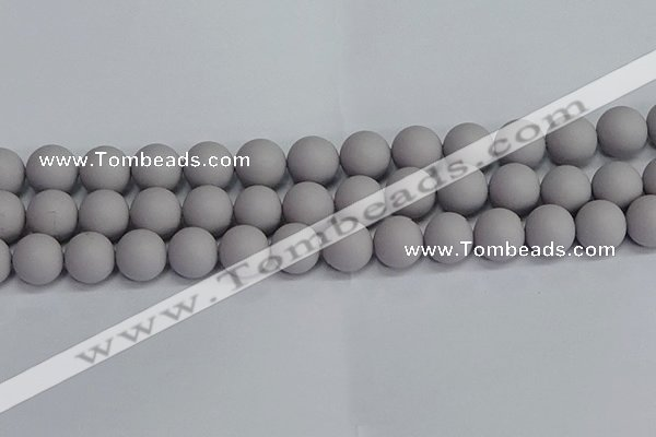 CSB1684 15.5 inches 12mm round matte shell pearl beads wholesale
