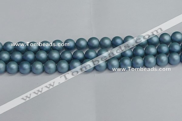 CSB1714 15.5 inches 12mm round matte shell pearl beads wholesale
