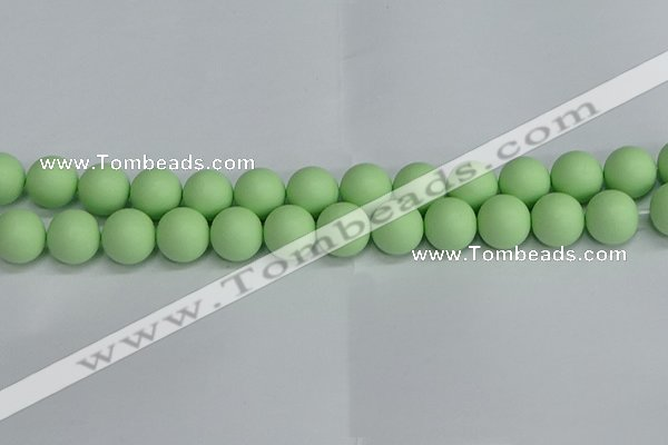 CSB1745 15.5 inches 14mm round matte shell pearl beads wholesale