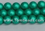 CSB1751 15.5 inches 6mm round matte shell pearl beads wholesale