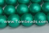 CSB1754 15.5 inches 12mm round matte shell pearl beads wholesale