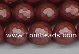 CSB1865 15.5 inches 14mm faceetd round matte shell pearl beads