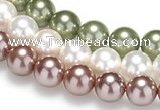 CSB20 16 inches 14mm round shell pearl beads Wholesale